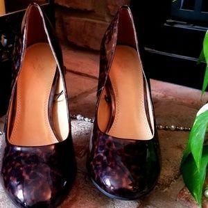 """🐆👠 NY&C leopard cheetah chunky heel 3.5"""" size 8"""
